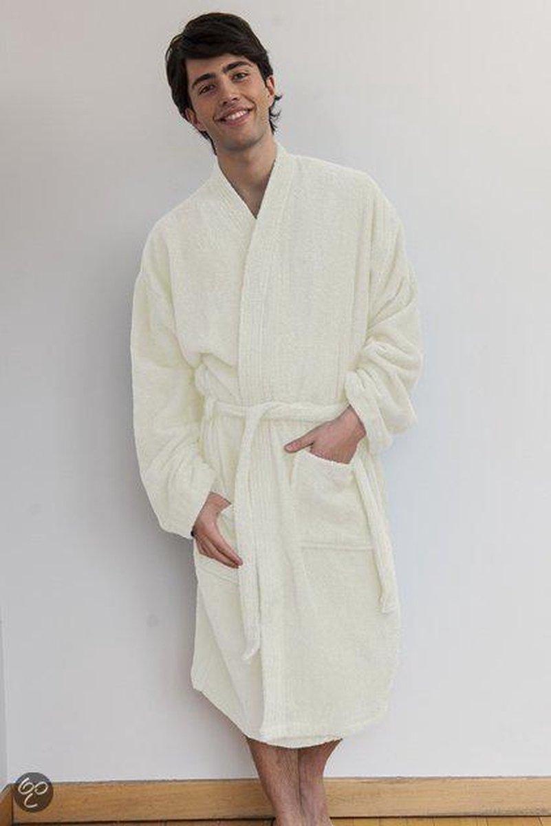 Comfy Co Kimono Robe badjas, kleur Cream, Maat S/M - Comfy Co.