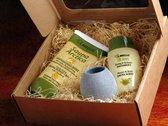 Sauna Cadeau; Honingcrème, Aromaverdamper, Honingkruiden Opgietmiddel