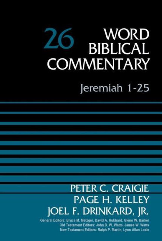 Boek cover Jeremiah 1-25, Volume 26 van Peter C. Craigie (Hardcover)