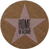 Bloomingville - Deurmat - Kokos - 'Home of a star' - Ø70xH1,5 cm