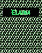 120 Page Handwriting Practice Book with Green Alien Cover Elaina
