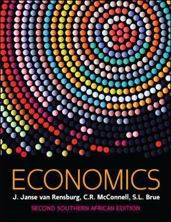 Boek cover Economics, Southern African Edition van J. Van Rensburg (Paperback)