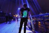 Illuminated Apparel Glow - T-shirt - Groen - Maat L