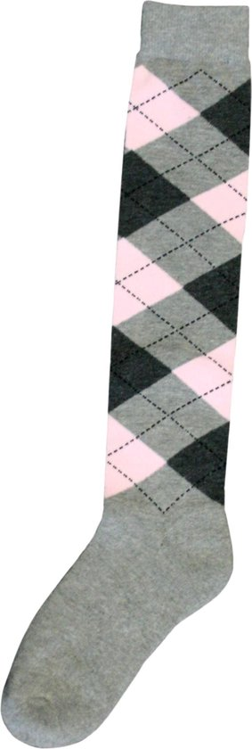 Kniekous RE l.grijs/d.grijs/roze 43-46