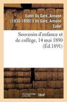 Souvenirs d'Enfance Et de Coll ge, 14 Mai 1890