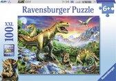 Ravensburger puzzel Bij de dinosaurussen - Legpuzzel - 100XXL stukjes