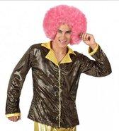 Goud disco glitter jasje voor heren 50 (m)