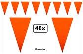 48x Vlaggenlijn oranje 10 meter