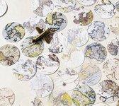 Stickerset Landkaart - Set met 46 stickers