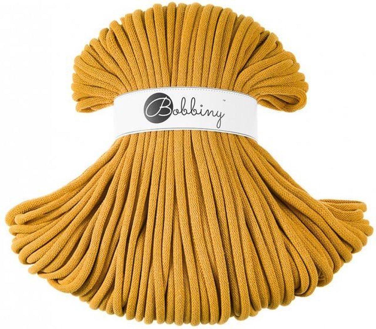 Bobbiny Jumbo Cord 9mm Mustard