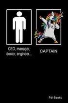 Captain: Kariertes A5 Notizbuch oder Heft f�r Kapit�ne