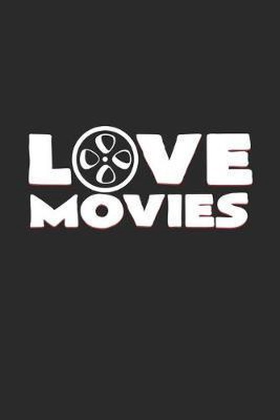 love movies: 6x9 Movies - grid - squared paper - notebook - notes