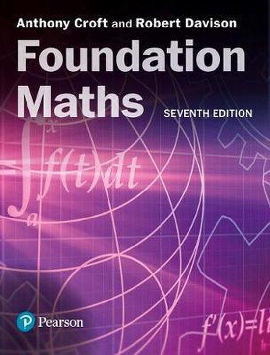 Boek cover Foundation Maths van Anthony Croft (Paperback)