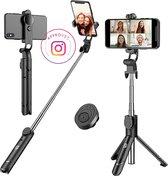 Studio ME® 3 in 1 Selfie Stick Tripod - Selfiestick Universeel voor je beste Foto en Video - selfiestick iphone en selfiestick samsung - selfiesticks