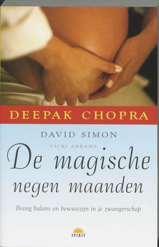 Cover van het boek 'De magische negen maanden' van D. Simon en Deepak Chopra