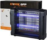 Knock Off Insectenlamp 2x6 Watt - Vangstbereik 30 m2. - Muggenlamp Vliegenlamp