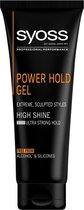 SYOSS Men Power Hold Extreme Styling Gel 6x 250ml - Voordeelverpakking