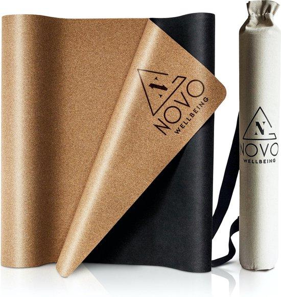 Yoga Mat|Anti Slip met Tas|Kurk & Natuurlijk Rubber|Eco|183x61x0,2cm