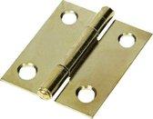 TQ4U scharnier met vaste pen   30 x 26 mm   vermessingd   4 STUKS