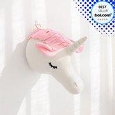 Dierenkop Wanddecoratie 3D   Unicorn Versiering   Kinderkamer Decoratie   Babykamer   Muurdecoratie Kinderkamer   Dierenhoofd   Wanddecoratie