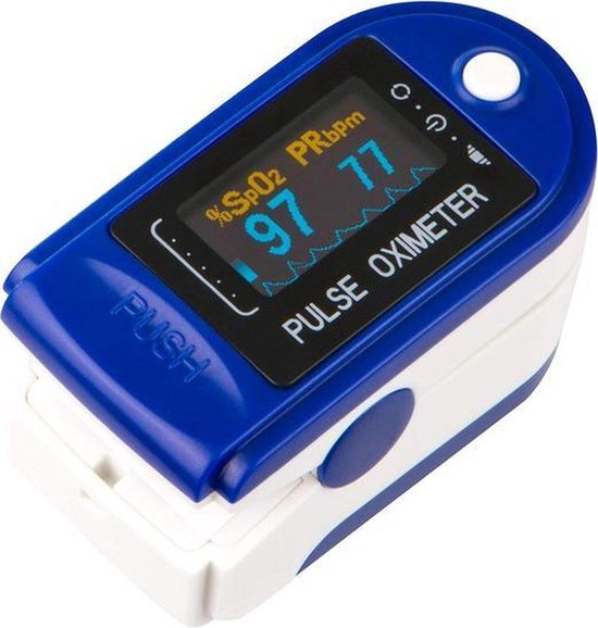 Optible Zuurstofmeter (incl. batterijen) - Bloed zuurstof meter - Oximeter - Hartslagmeter - Saturatiemeter - Oximeter Pulse