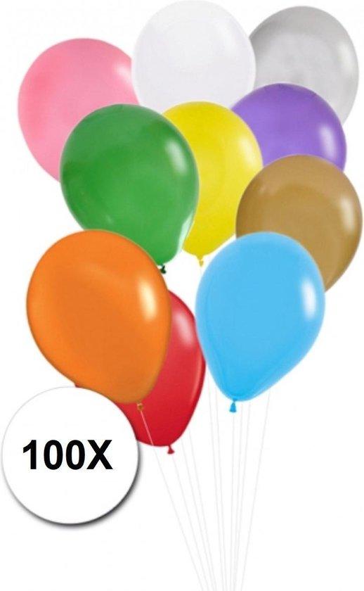 Gekleurde Ballonnen Feestversiering Latex Ballon 100st Verjaardag