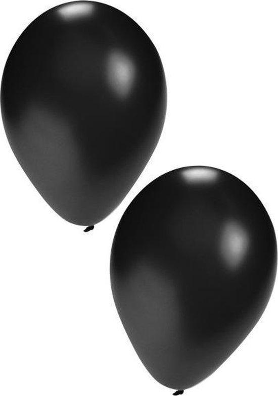 Zwarte ballonnen 10 stuks | Ballonnen zwart voor lucht en helium