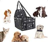 Opvouwbare autostoel hond - Inclusief gratis E-Book - Hondenmand auto - Autobench voor hond - Hondenstoel auto - Zwart-wit