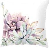 Moodadventures | Kussens | Kussenhoes Pink Cactus | 45 x 45 | Sierkussenhoes