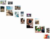 Magnetische fotolijst - Fotomuur trap - Wit - 14 stuks