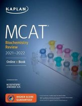 Boek cover MCAT Biochemistry Review 2021-2022 van Kaplan Test Prep