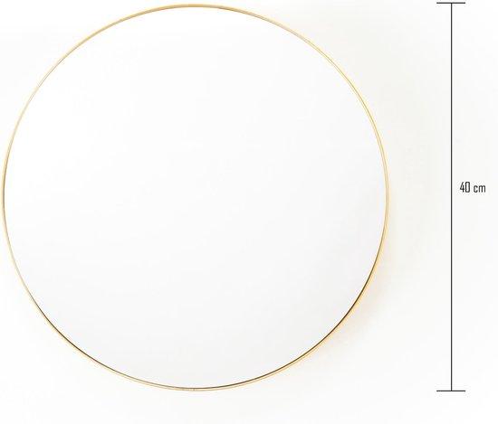 Ronde Metalen Spiegel-Goud-40cm-Housevitamin