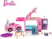 Barbie 3-in-1 DroomCamper & Accessoires - Poppenvoertuig