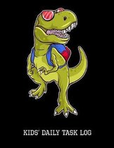 Kids' Daily Task Log: T-Rex, Childrens Responsibility Checklist