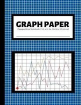 Graph Paper Composition Notebook: 4x4 Quad Ruled Graphing Grid Paper - 100 Pages - Blue