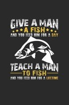 Give a man a fish: 6x9 Aquarium - grid - squared paper - notebook - notes