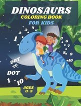 dinosaurs dot to dot 1-10 coloring book for kids 3-5