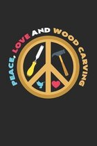 Peace, love and wood carving: 6x9 Wood Carving - grid - squared paper - notebook - notes