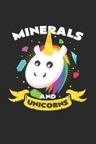 Minerals and unicorns: 6x9 Minerals - dotgrid - dot grid paper - notebook - notes