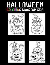 Halloween Coloring Book for Kids: Simple Hand Drawn Halloween Coloring Book for Kids ages 4-8