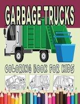 Garbage Trucks Coloring Book for Kids