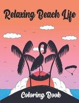 Relaxing Beach Life Coloring Book