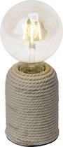 BRILLIANT lamp Cardu tafellamp naturel | 1x G95, E27, 40W, geschikt voor standaardlampen (niet inbegrepen) | Schaal A ++ tot E | Met snoerschakelaar