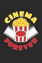 Cinema forever: 6x9 Movies - grid - squared paper - notebook - notes