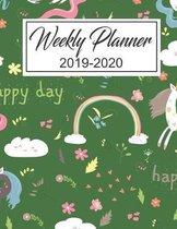 Weekly Planner 2019 - 2020: Unicorns Weekly Planner Academic Calendar and Organizer