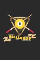 Billiards: 6x9 Billiards - dotgrid - dot grid paper - notebook - notes