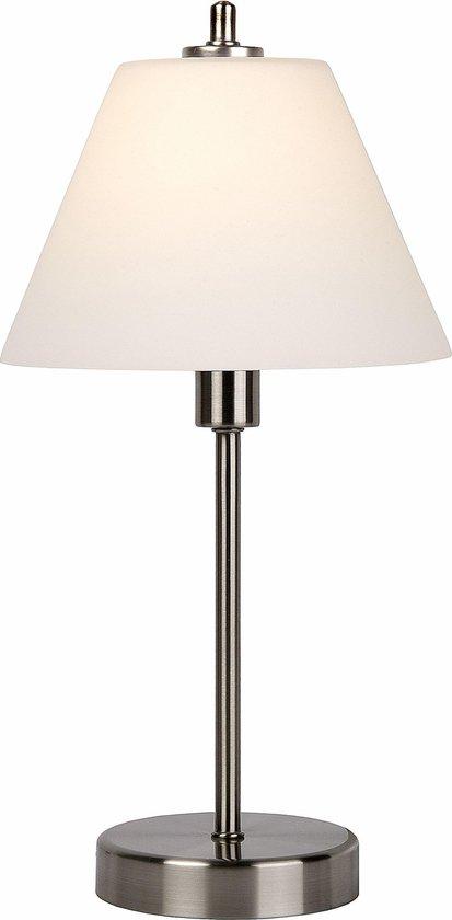 Lucide TOUCH - Tafellamp - Ø 22 cm - 1xE14 - 3 StepDim - Mat chroom