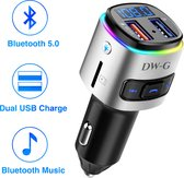 DW-G Bluetooth FM Transmitter / Auto Lader / Carkit / Handsfree / MP3 / USB / SD Kaart / Snel Lader / Bluetooth Audio Receiver