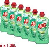 Ajax Allesreiniger Limoen 6 x 1.25L - Voordeelverpakking