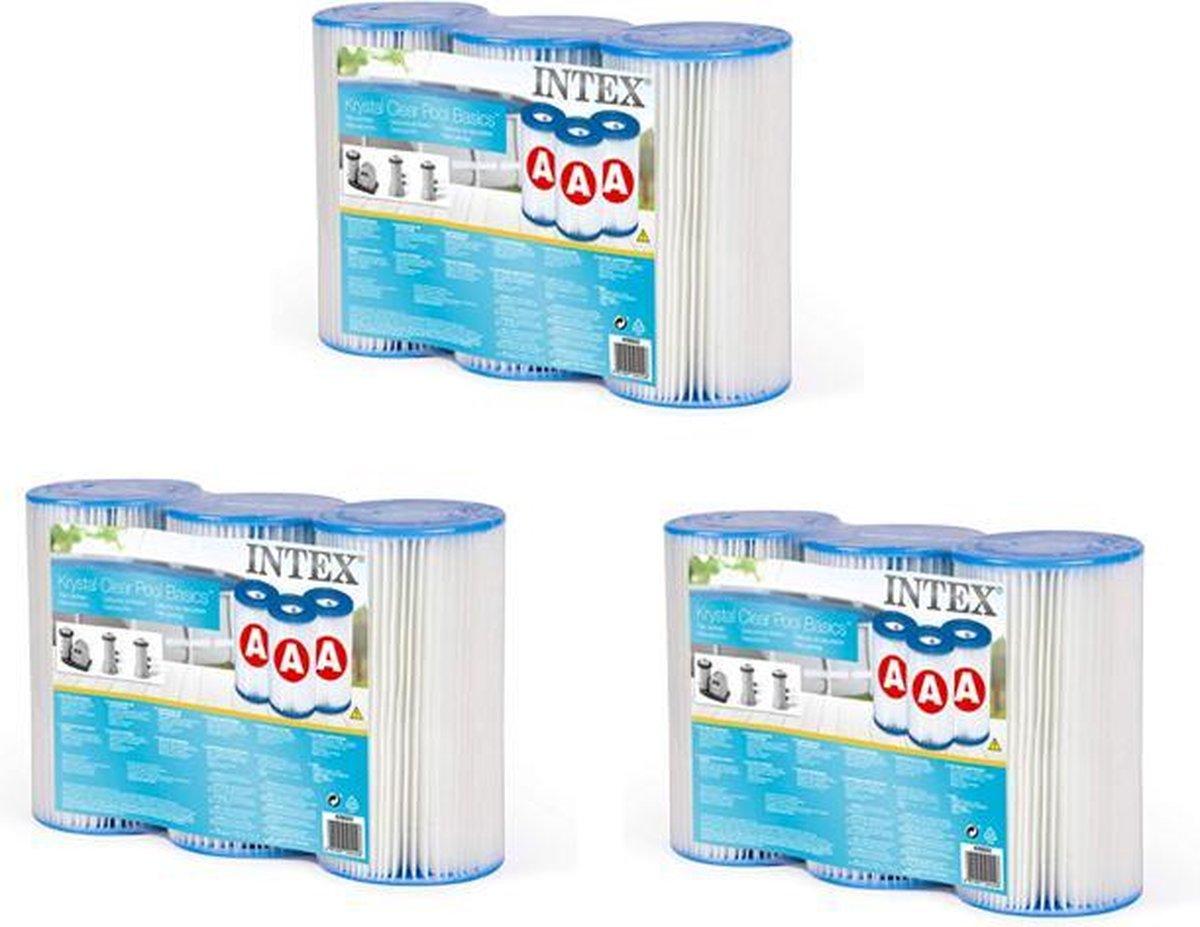 Intex Filter Type A - Zwembadonderhoud en reiniging - Set van 9